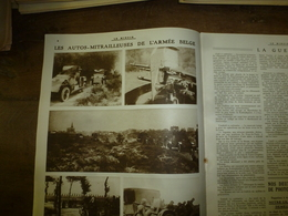 1916 LE MIROIR:Auto-mitrailleuses De L'armée Belge;Cléry,Maurepas,Le Forest;Anglais à Guillemot; Cap,Usine Krupp;etc - Revues & Journaux