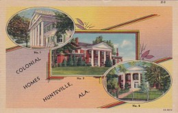 Alabama Huntsville Beautiful Colonial Homes Curteich - Huntsville