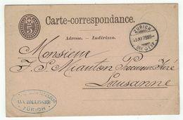 Suisse // Schweiz // Switzerland //  Entiers Postaux  //  Entier Postal Au Départ De Zurich Le 25.11.1878 - Interi Postali