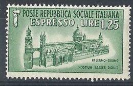 1944 RSI ESPRESSO DUOMO DI PALERMO MNH ** - RR8254 - 4. 1944-45 Repubblica Sociale