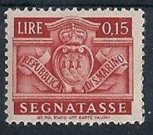 1945 SAN MARINO SEGNATASSE 15 CENT MH * - RR8278 - Segnatasse