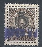 1945 LUOGOTENENZA USATO REC. AUTORIZZATO - RR8384-3 - 5. 1944-46 Lieutenance & Umberto II