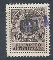 1945 LUOGOTENENZA USATO REC. AUTORIZZATO - RR8384-6 - 5. 1944-46 Lieutenance & Umberto II
