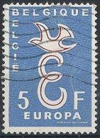 1958 BELGIO USATO EUROPA 5 F - Europa-CEPT