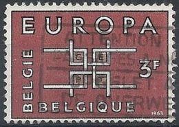 1963 BELGIO USATO EUROPA 3 F - 5 - Europa-CEPT