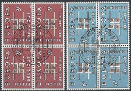 1963 BELGIO USATO EUROPA QUARTINA - 2 - Europa-CEPT
