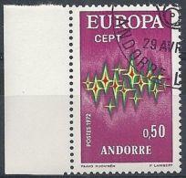 1972 ANDORRA FRANCESE USATO EUROPA 50 CENT - 1972