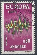 1972 ANDORRA FRANCESE USATO EUROPA 50 CENT - 2 - Europa-CEPT
