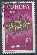 1972 ANDORRA FRANCESE USATO EUROPA 50 CENT - 3 - 1972