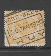 COB 64 Oblitéré Nord-Belge HUY - Bahnwesen