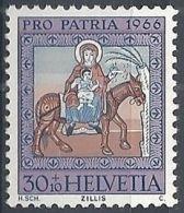1966 SVIZZERA PRO PATRIA DIPINTI 30 CENT MNH ** - SZ168 - Nuovi