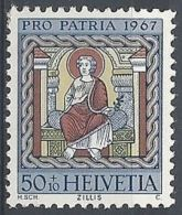 1967 SVIZZERA PRO PATRIA DIPINTI 50 CENT MNH ** - SZ168 - Pro Patria