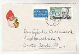 1997 Hyltebruk SWEDEN COVER Stamps 5k  RAGNAR GRANIT NOBEL PRIZE MEDICINE Airmail To Germany  Health - Medicine