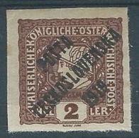 1919 CECOSLOVACCHIA SOPRASTAMPATO 2 H AUSTRIA G. 20 MH * - CZ025 - Cecoslovacchia