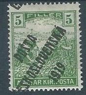 1919 CECOSLOVACCHIA SOPRASTAMPATO 5 F UNGHERIA MIETITORI MH * - CZ026 - Cecoslovacchia
