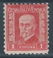 1925 CECOSLOVACCHIA TOMAS GARRIGUE MASARYK 1 KR MH * - CZ021-2 - Cecoslovacchia