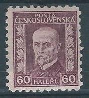 1926 CECOSLOVACCHIA TOMAS GARRIGUE MASARYK 60 H MH * - CZ020 - Cecoslovacchia