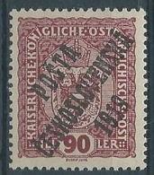 1919 CECOSLOVACCHIA SOPRASTAMPATO 90 H AUSTRIA N.156 MH * - CZ028 - Cecoslovacchia