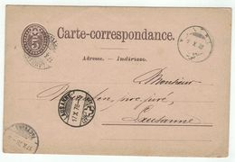Suisse // Schweiz // Switzerland //  Entiers Postaux  //  Entier Postal Au Départ De Monthey Le 01.10.1878 - Interi Postali