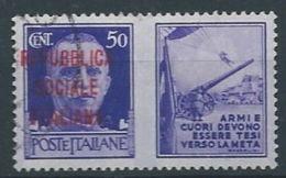 1944 RSI USATO PROPAGANDA DI GUERRA 50 CENT - RR13120-2 - 4. 1944-45 Repubblica Sociale