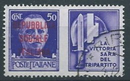 1944 RSI USATO PROPAGANDA DI GUERRA 50 CENT - RR13120-6 - 4. 1944-45 Repubblica Sociale