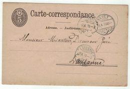 Suisse // Schweiz // Switzerland //  Entiers Postaux  //  Entier Postal Au Départ De Vevey, Le 09.10.1878 - Interi Postali