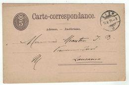 Suisse // Schweiz // Switzerland //  Entiers Postaux  //  Entier Postal Au Départ De Sion Le 11.05.1878 - Interi Postali