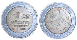 05198 GETTONE TOKEN JETON ADVERTISING LUCKY TOKEN UNILEN CONTRO BRUCIORE IELLA E MALOCCHIO BIMETALLIC - Italy