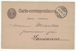 Suisse // Schweiz // Switzerland //  Entiers Postaux  //  Entier Postal Au Départ De Genève Le 05.05.1878 - Interi Postali