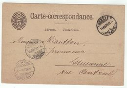 Suisse // Schweiz // Switzerland //  Entiers Postaux  //  Entier Postal Au Départ De Genève Le 14.08.1878 - Interi Postali