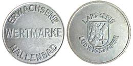 05200 GETTONE TOKEN JETON SWISSE ERWACHSENE WERTMARKE HALLENBAD LANDKREIS LUDWIGSHAFEN - Tokens & Medals