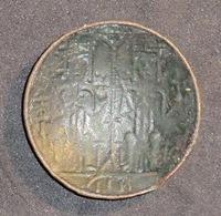 Monnaie Byzantine Sanct Maria Et Couple Tronant - Byzantines
