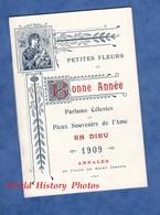Calendrier Ancien Sous Forme De Livret Avec Chants - 1909 - Petites Fleurs De Bonne Année Parfum Céleste Dieu St Joseph - Calendriers