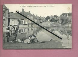 CPA -    Saint Valéry Sur Somme  - Rue De L'Abbaye  -(mare ) - Saint Valery Sur Somme