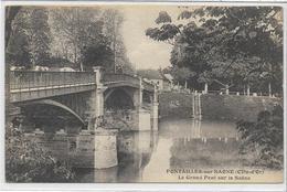 21 PONTAILLER-SUR-SAÖNE . Le Grand Pont Sur La Saône Et Les Vaches , édit : CLB , écrite En 1932 , état Extra - France