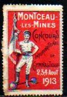 Vignette - 1913 - MONTCEAU LES MINES - Gymnastique - Commemorative Labels