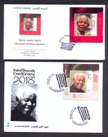 Tunisia/Tunisie 2018 - 2  FDC -  The Centenary Of The Birth Of Nelson Mandela Joint Issue Tunisia/Algeria - MNH** - Tunisie (1956-...)