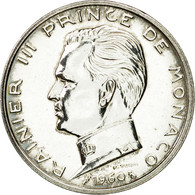 Monnaie, Monaco, Rainier III, 5 Francs, 1960, Paris, ESSAI, SPL, Argent - Monaco