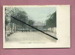 CPA -    St Valéry Sur Somme  - Place Courbet Et Le Casino - Saint Valery Sur Somme
