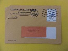 COMUNI D'ITALIA BUSTA DEL 2002 COMUNE DI LAINO BORGO CON GIOCHI OLIMPICI INVERNALI TORINO ISOLATO - 2001-10: Marcophilia