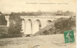 Champagne-Mouton- (Train Sur ) Le Viaduc De L'Argent - Autres Communes
