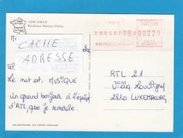 CARTE POSTALE AVEC VIGNETTE D'AFFRANCHISSEMENT DE JOEUF. - 1969 Montgeron – Weißes Papier – Frama/Satas