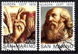 Saint-Marin 1975 Mi.nr.:1088-1089 Europa: Gemälde  OBLITÉRÉS / USED / GESTEMPELD - Saint-Marin