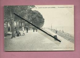 CPA -  Saint Valéry Sur Somme  - Promenade De La Digue - Saint Valery Sur Somme