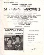 Dossier De Presse Cinéma. Affichette La Grande Vadrouille Avec Bourvil Et De Funes. - Cinema Advertisement