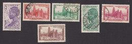 Ivory Coast, Scott #116, 120-121, 123-125, Used, Scenes Of Ivory Coast, Issued 1936 - Ivory Coast (1892-1944)