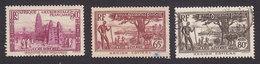 Ivory Coast, Scott #127, 130, 133, Used, Scenes Of Ivory Coast, Issued 1936 - Ivory Coast (1892-1944)