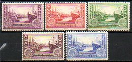 Vignette - 1929 - LE HAVRE - EXPOSITION PHILATELIQUE INTERNATIONALE - (Lot De 5 Vignettes Différentes) - Commemorative Labels