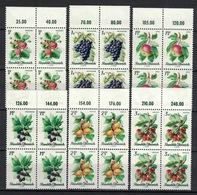 Österreich / Austria 1966, Obst Fruit Fruta Frutta Fruttas **, MNH, Block Of 4 With Margin - 1961-70 Ongebruikt