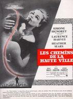 Dossier De Presse Cinéma. Affichette Les Chemins De La Haute Ville Avec Simone Signoret, Laurence Harvey, Heather Sears. - Cinema Advertisement